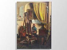 huile sur toile Atelier d'artiste XIXème