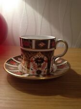 ROYAL CROWN DERBY 'Imari 1128' Coffee Can & Saucer, Excellent Cond. 1st c1977
