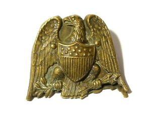 Antique Victorian Eagle Shield America Brass Paper Clip Olive Branches & Arrows