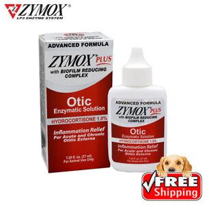 Zymox Plus Advanced Formula Dog&Cat Ear Solution, 1.25oz in Box