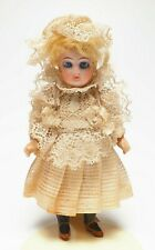 "New ListingAntique Bisque 5 1/2"" Doll with Original Clothes-Marked 13 on Neck"