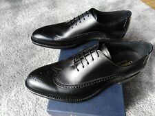 Loake 1880 Black calf Brogue  Mens Shoes made in England rrp£240 8F