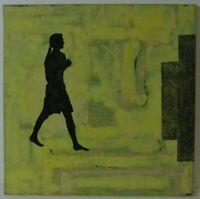 """Ralf-Rainer Odenwald """"Gehende, weibliche Schattenfigur"""" Ölgemälde, signiert,2002"""