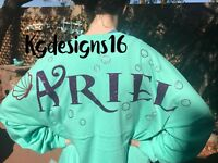 Ariel Spirit Jersey-The Little Mermaid-Disney Spirit Jersey-S-M-LG-XL-2XL