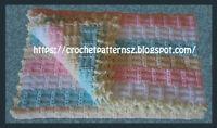 Crochet Pattern/ PDF Download English Pattern for Crochet Baby Blanket 1