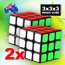 2x Stock Magic Cube 3x3x3 Super Smooth Fast Speed Rubik Puzzle Rubics Rubix
