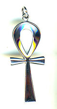 "925 Sterling Silver Solid Large Egyptian Cross Pendant L 51mm  (2"" x 3/4"") Ankh"