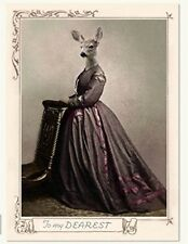 Victorian Trading Co Anthropomorphic Deer To My Dearest Christmas Cards 10 pack