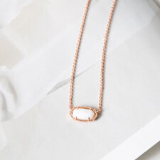 Authentic Kendra Scott Elisa Necklace in Ivory Pearl Rose Gold Plated