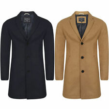 Polyester Collared Long Regular Size Coats & Jackets for Men