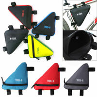 Cycling Bike Front Frame Triangle Bag Tube Pouch Holder Bicycle Saddle Panniers