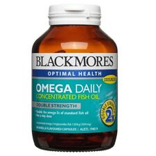 BLACKMORES OMEGA DAILY CONCENTRATED FISH OIL 90 CAPSULES DOUBLE STRENGTH VANILLA