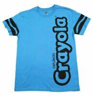 MENS CRAYONS CRAYON CRAYOLA BLUE CERULEAN CLASSIC RETRO T-SHIRT TEE NEW