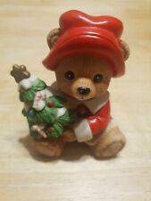 Homco Teddy Bear With Christmas Tree
