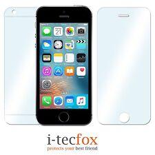 9H+ iPhone SE / 5 / 5S NANO TECH DISPLAY SCHUTZ PANZER GLAS + Folie f. Rückseite