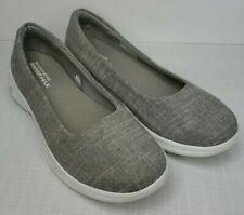 Womens SKECHERS 'Goga Max Gen 5 Go Step Lite' Gray Loafers Shoes SIZE 10 EU 40
