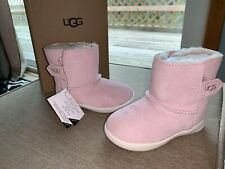 New in Box UGG Australia Keelan Baby Pink Sparkle Boots Toddler Girl's size 8