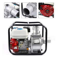 Portable Recoil Start Gasoline Water Transfer Pump W/Hose clamps 60m3/h 7.0Hp