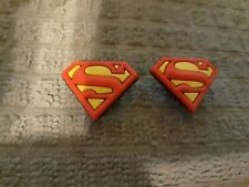Lot 2 Superman shoe charms for Crocs shoes. Other uses Craft, Scrapbook