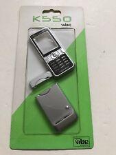 Sony Ericsson K550 Full Fascia Housing Cover Front Back Case Keypad Silver