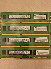 New listing Lot of 4 Samsung 4Gb 1Rx8 Pc3-12800U Ddr3 Desktop Memory 16Gb Ram Total