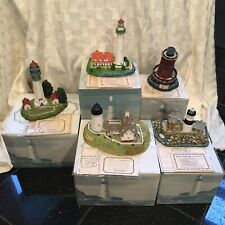 Lot of 5 Harbour Lights Lighthouses New York +great Gift!