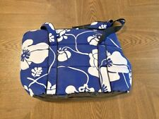 Small dog, puppy, or cat shoulder carrier Blue White Flowers