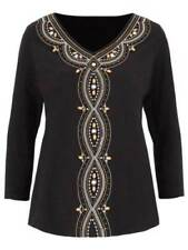 Beaded Cotton V Neck Tops & Shirts for Women