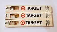 Vtg 1970s Lot of 3 Target Clear & Yellow 40 Tufts Adult 4 Row Toothbrush Prop