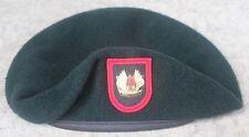 Authentic New 1SFOD-D, CAG, DELTA Force SINE PARI Green Beret, Obsolete Crest