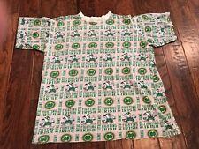 Vintage Notre Dame Fighting Irish Allover Print T Shirt Men's Large 90's