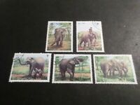 VIET-NAM, ASIE, ANIMAUX ELEPHANTS LOT timbres oblitérés, TB, VF cancelled STAMPS