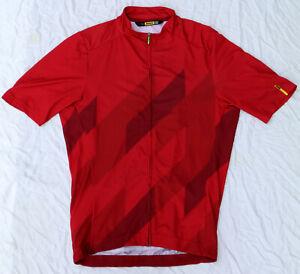 Mavic Cosmic Mosaic Medium Cycling Jersey - Red Dhalia