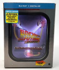 NEW BACK TO THE FUTURE THE COMPLETE ADVENTURES BLU RAY LIGHT UP BOX