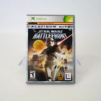 Xbox - Star Wars Battlefront Platinum Hits Video Game & Booklet - Works!