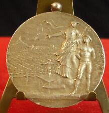 Médaille Fédération de Gymnastique 1924 Patronnage St Lô Fc Desvergnes Medal 铜牌