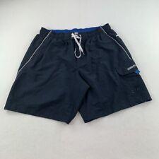 New listing Speedo Swim Trunks Adult Large Blue White Bathing Suit Shorts Swimming Mens