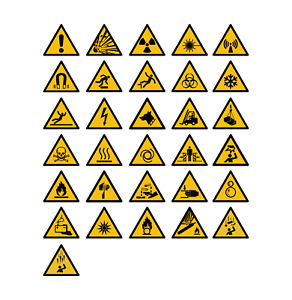 Aufkleber Warnzeichen Schild Warn Zeichen DIN 4844-2 ISO 7010