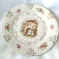 "Z. S. & CO. CUPID AND VENUS PLATE BAVARIA 6"" Dessert Plate Gilded ZS Vintage"