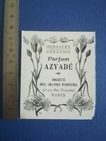 PUB ANCIENNE ADVERT CLIPPING - 1904 Parfum Aziadé Sté des grands parfums Paris
