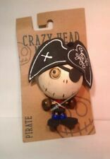 Crazy Head Magnet Pirate Rubber Wood Collectible Magnet Have Many Available!