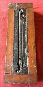 Antique Primitive Folk Art - RARE Large Wooden Long Tool Mold Gumps