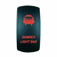 Red Bumper On/Off Laser Rocker Switch 5 Pin Led 20 amp 12 volt UTV Boat Truck