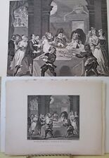 Vintage Print,SANCHO AT FEAST STARVED PHYSICIAN,Hogarth,c1840