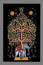 Multi Thai Elephant Mandala Tapestry Wall Hanging Árbol Decoración Hogar Tie Dye Hippie