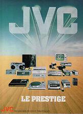 Publicité 1980  JVC le prestige !  Audio ampli téléviseur hifi ...