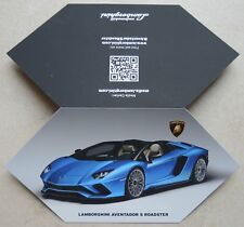 Lamborghini 2017 IAA Aventador S Roadster Presskit no prospekt brochure depliant