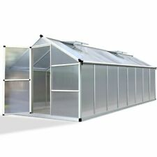 Greenfingers 4.8x2.5m Polycarbonate Aluminium Greenhouse (GH-ALU-482X250-AB)