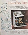 Vintage 1954 Hotpoint Electric Range, Appliance, Kitchen Print Ad. MCM photo