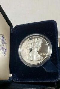 2000 P Proof American Silver Eagle 1 oz .999 Fine Silver Coin w/Box & COA